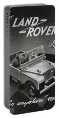 Vintage Land Rover Advert Portable Battery Charger