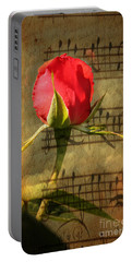 Portable Battery Charger featuring the photograph Vintage Love Story Symphony by Judy Palkimas