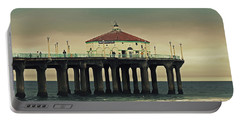 Vintage Manhattan Beach Pier Portable Battery Charger