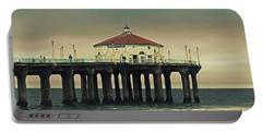 Vintage Manhattan Beach Pier Portable Battery Charger
