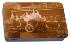 Portable Battery Charger featuring the photograph New Orleans Vintage Mardi Gras Parade On Canal Street Circa 1920's by Michael Hoard
