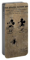 Vintage Mickey Mouse Patent Portable Battery Charger