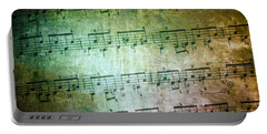 Vintage Music Sheet Portable Battery Charger