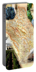 Vintage Napa Valley Map Portable Battery Charger