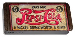 Vintage Pepsi Cola Ad Portable Battery Charger