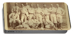 Vintage Photo Of Metropolitan Baseball Nine Team In 1882 Portable Battery Charger