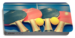 Vintage Ping-pong Bats Table Tennis Paddles Rackets Portable Battery Charger
