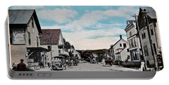 Vintage Postcard Of Wolfeboro New Hampshire Art Prints Portable Battery Charger