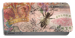 Vintage Queen Bee Collage  Portable Battery Charger