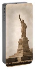 Vintage Statue Of Liberty Portable Battery Charger by RicardMN Photography
