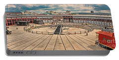 Portable Battery Charger featuring the photograph Vintage Steamtown Rondhouse by Gary Keesler