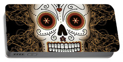 Vintage Sugar Skull Portable Battery Charger