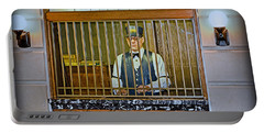 Portable Battery Charger featuring the photograph Vintage Train Ticket Booth by Gary Keesler