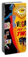Vintage Travel Poster - Las Vegas Portable Battery Charger