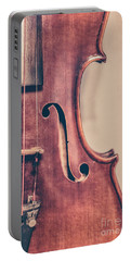 Vintage Violin Portrait 2 Portable Battery Charger by Emily Kay