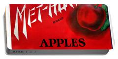 Vintage Washington State Apple Warehouse Label Met-how Art Prints Portable Battery Charger