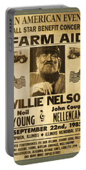 Vintage Willie Nelson 1985 Farm Aid Poster Portable Battery Charger
