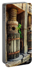 Vintage Wine Press Portable Battery Charger