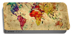 Vintage World Map Portable Battery Charger