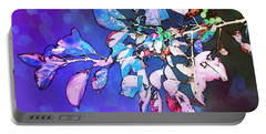 Portable Battery Charger featuring the photograph Violet Illumination by Shawna Rowe