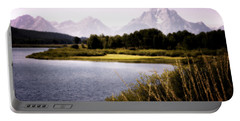 Violet Tetons Portable Battery Charger