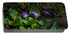 Violets Portable Battery Charger by Dorothy Cunningham