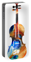 Violin Art By Sharon Cummings Portable Battery Charger by Sharon Cummings