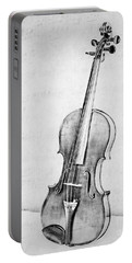 Violin In Black And White Portable Battery Charger
