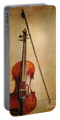 Violin With Bow Portable Battery Charger