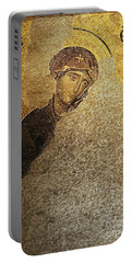 Virgin Mary-detail Of Deesis Mosaic  Hagia Sophia-day Of Judgement Portable Battery Charger