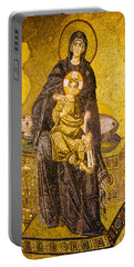 Virgin Mary With Baby Jesus Mosaic Portable Battery Charger