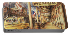 Virginia City Nevada - Western Art Painting Portable Battery Charger