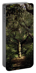 Portable Battery Charger featuring the photograph Virginia Dare Statue by Greg Reed