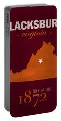 Virginia Tech University Hokies Blacksburg College Town State Map Poster Series No 120 Portable Battery Charger