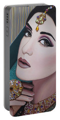 Viridian Indian Beauty Portable Battery Charger by Malinda Prudhomme