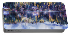 Visions- Lake Inez Portable Battery Charger by Janie Johnson