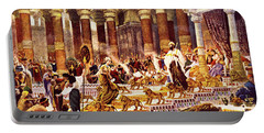 Visit Of Queen Of Sheba To King Solomon Portable Battery Charger