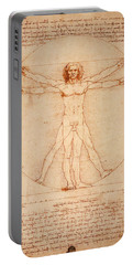 Vitruvian Man Portable Battery Charger by Bill Cannon