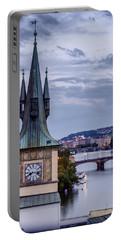 Vltava River In Prague Portable Battery Charger