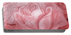 Voir La Vie En Rose Portable Battery Charger by Heather  Hiland