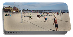 Volleyball At The Santa Cruz Beach Boardwalk California 5d23837 Portable Battery Charger