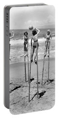 Volleyball On Stilts Portable Battery Charger