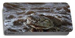 Voracious Crocodile In Water Portable Battery Charger