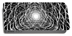 Portable Battery Charger featuring the drawing Vortex Equilibrium by Derek Gedney
