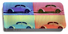 Vw Beetle Pop Art Quad Portable Battery Charger