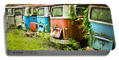 Vw Buses Portable Battery Charger by Carolyn Marshall
