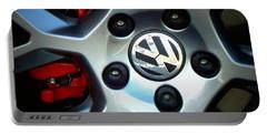 Vw Gti Wheel Portable Battery Charger by Joseph Skompski
