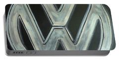 Vw Logo Chrome Portable Battery Charger