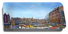 Waalseilandgracht Amsterdam Portable Battery Charger by Frans Blok
