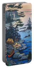 Wabigoon Lake Memories Portable Battery Charger by Sharon Duguay